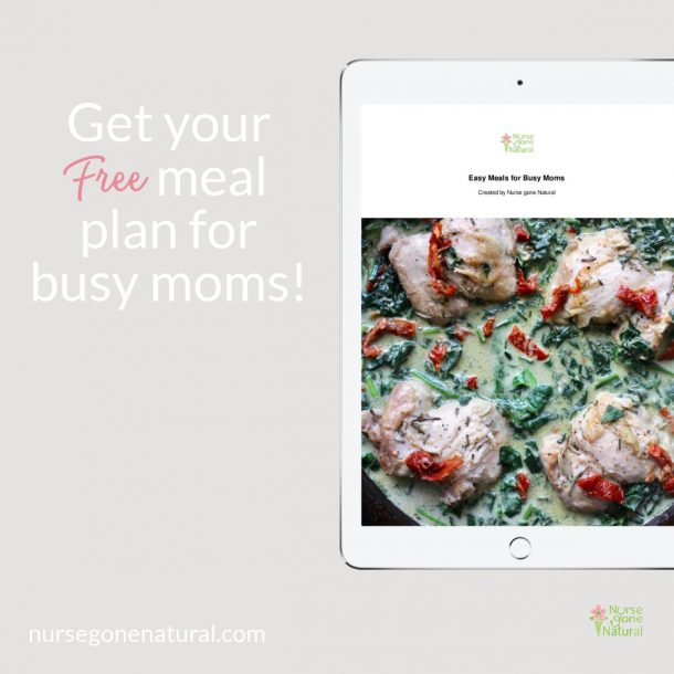 Meal plan on iPad